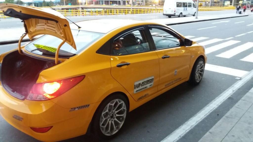 golpe do táxi Bogotá